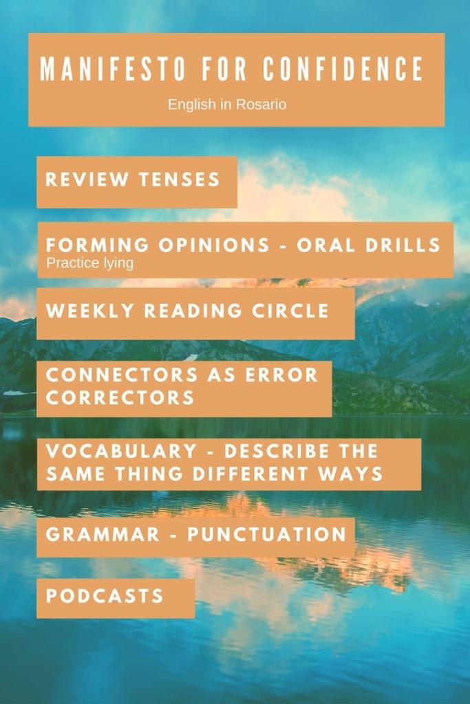 grow confidence through English